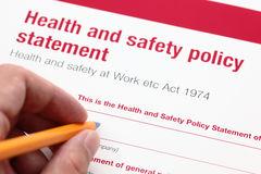 health-safety-policy-statement-hand-ballpoint-pen-45334555
