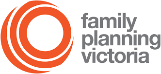 Logo 3 orange circles inside each other on left. Beside the circles are teh words Family Planning Victoria in 3 lines