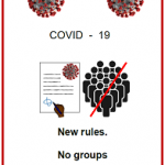 Easy English COVID 19 front cover new rules no groups