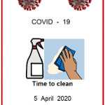 Easy English fact sheet. COVID19 front cover. Time to clean