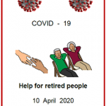 Easy English fact sheet COVID19. front cover help for retired people 10 April 2020
