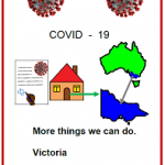 Easy English COVID19 fact sheet. More things we can do Vic 31 May 2020front cover