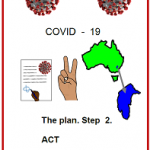 Easy English COVID19 fact sheet front cover. front cover Step 2 ACT 30 May 2020