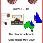 Easy English COVID19 fact sheet front cover The plan for school Qld 9 May 2020