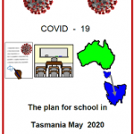 Easy Englsih COVID19 fact sheet front cover. The plan for school in Tas 16 May 2020