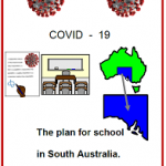 Easy English COVID19 fact sheet. front cover the plan for school SA 29 May 2020