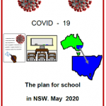 Front Cover Easy English COVID19 fact sheet. The plan for school in NSW May 2020