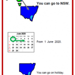 Easy English COVID19 A4 poster. poster ACT holiday May 2020