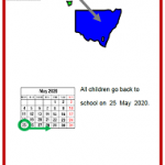 Easy English COVID19 A4 poster. School in NSW. 21 May 2020