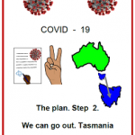 Easy English COVID19 fact sheet. front cover The plan step 2 Tasmania 7 june 2020