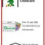 Easy English COVID19 front cover A4 poster childcare June 2020