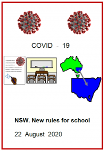 Easy English COVID10 front cover NSW new rules 22 August 2020